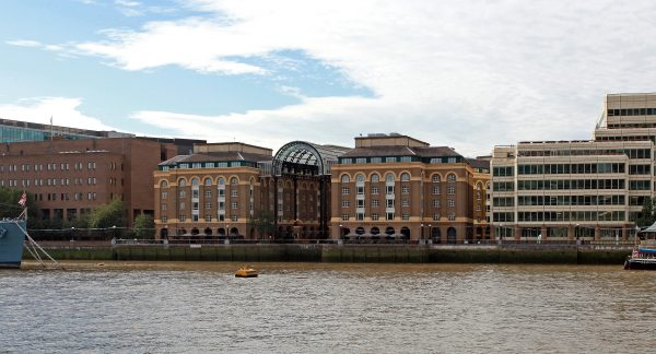 clear view across the Thames at riverside properties in London Bridge